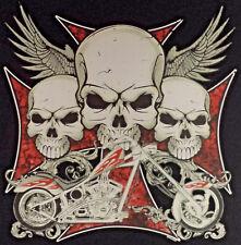 T-Shirt BIKER ROUTE 66 V8 USA KUSTOM 50s HOT ROD VINTAGE RETRO SKULL BONES 514