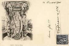 DIJON PUIT DE MOISE CARTE VOYAGEE 1900