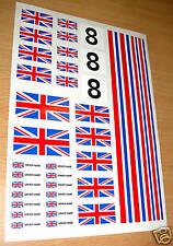 RC Union Jack flag stickers decal Mardave Kyosho Tamiya