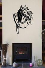 LUCKY Ferro di Cavallo in Vinile Adesivi Decalcomania Murale Parete Articolo Per horsebox Adesivo troppo!