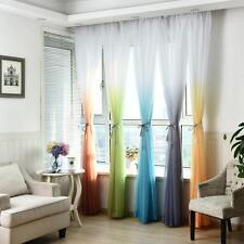 coloré porte rideau de fenêtre Floral Tulle Voile panneau transparent écharpe