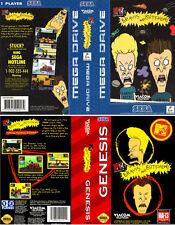 Beavis And Butt-Head Sega Megadrive PAL Genesis Replacement Box Art Case Insert
