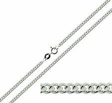 """Plata Esterlina 925 16 18 20 22 24 26 28 30 """"pulgadas de 2.5 mm frenar enlace Collar de cadena"""