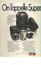 PUBLICITE ADVERTISING  1981    PENTAX  appareil photo ME SUPER