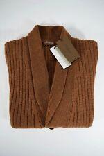 NWT McGEORGE cardigan maglione UOMO 100% LANA nocciola A/I 2017/18 tg.M-L-XL-3XL