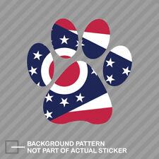 Ohio State Shaped Paw Print Sticker Dog Cat Pet Puppy