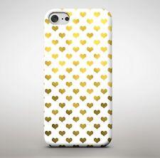 doré jaune coeur d' Amour Motif collage filles pour étui de téléphone