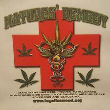 NATURE'S REMEDY   POT WEED MARIJUANA LEAF MARY JANE  SHIRT #MJ-19