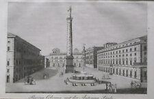 1834:ROMA,PIAZZA COLONNA CON COLONNA ANTONINA.ACCIAIO.