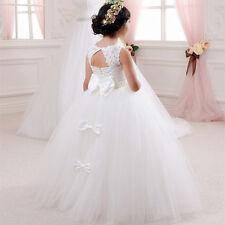Handmade Flower Girl's Kids Pageant Dress Princess Ball Gown Formal Dresses
