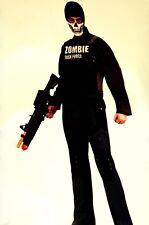 Mens Walking Zombie Task Force Halloween Costume Dead Skeleton SWAT TEAM  XL NEW