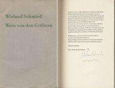 Hap Grieshaber/Wieland fabbro: vino dalle tombe (1962). firmato/numerate