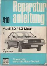 ORIG. AUDI 80 L GL 1,3 L Manuale di riparazione a partire dal 1978 Top