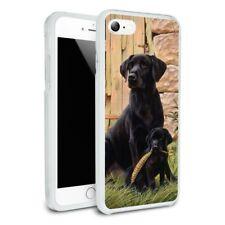 Black Labrador Retriever Dog Puppy Hybrid Rubber Bumper iPhone 7 and 7