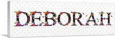 ARTCANVAS DEBORAH Girls Name Room Decor Canvas Art Print