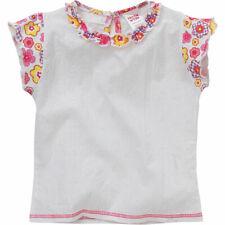 Patch Work Girls Flower Print Broderie Anglais Pretty Cotton Summer Blouse