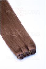 Echthaartresse Echthaar Haarverlängerung 45cm lang schwarz dunkelbraun blond