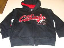 2011-12 Team Canada Age 6 Full Zip My Team Hoodie Hooded Black Sweatshirt Kids