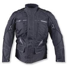 TARGA Triton Black Waterproof Textile Touring Motorcycle - Winter Jacket