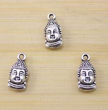 25/50/100 pcs Retro Style Good luck Buddha head charm pendant 15x7.5 mm