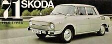 Skoda S100 L 110 L LS R 1970-71 French Market Foldout Sales Brochure