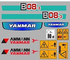 YANMAR B08-3 MINI DIGGER DECALCOMANIA IMPOSTATO CON SAFETY SEGNALI DI AVVERTIMENTO