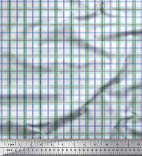 Soimoi Fabric Window Pane Check Print Fabric by Meter-CH-59A