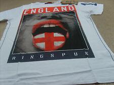 Genuine Ringspun Men's Brazil World Cup 2014 England Sterling Cotton T-Shirt