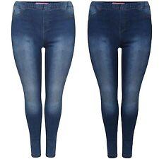 Para mujer de la alta cintura elástica ajustados pantalones vaqueros señoras Pantalones Jeggings Denim Talla Grande