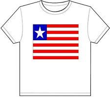 LIBERIA COUNTRY FLAG T-SHIRT TEE PICTURE PHOTO monrovia kpelle bassa gio 1334