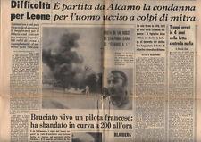 Giornale Sicilia 8/7/1968 Formula 1: Jo Schlesser muore sul circuito di Rouen