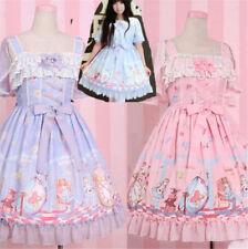 Alice in Wonderland Lolita Princess Dress Summer Girl Cute Lace Suspender Skirt
