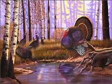Kendrick Wildlife Turkey Lodge Art Ceramic Tile Mural POV-LKA014