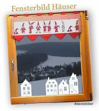 Häuser Wandtattoo Fensterbilder Aufkleber Deko Fenstertattoo Weihnachten Winter