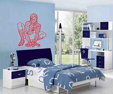 Spiderman Pared Arte Pegatina, Calcomanía, Mural, agachadas imagen, ideal para cualquier pared