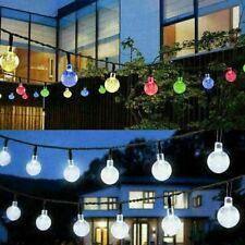 Solar / Battery LED String Fairy Lights Garden Party Festoon Ball Bulbs Lamps UK