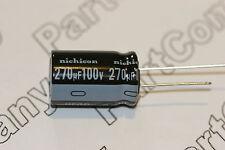 270uF 100V Capacitor Nichicon Radial Aluminium Electrolytic