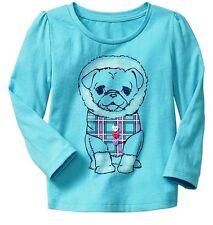 NWT Baby GAP Snow Brights Eskimo Puppy Dog Button Tee Top U Pick Size! NEW