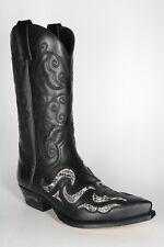 7490 Sendra Boots Stiefel Exotischer Westernstiefel Negro Python Natural