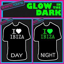 Me encanta la música DJ IBIZA Festival Ibiza brillan en la oscuridad Impreso Camiseta