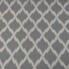 Ikat Grey/ Natural Oatmeal Linen & Bamboo  Curtain/Craft/Upholstery Fabric