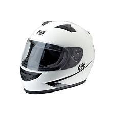 CASCO INTEGRALE BIANCO NERO KART MOTO OMP RACING CIRCUIT SC611E OMOL ECE 22.05