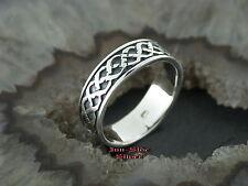 Ring Keltisch Zopf Celtic Silberring Gothic Feingehalt Silber 925 Zopfmuster