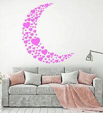 Vinyl Wall Decal Moon Heart Love Romance Girl Room Decor Stickers (1318ig)