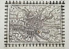 Gent Gant Belgien sehr seltener Holzschnitt von Saur 1585