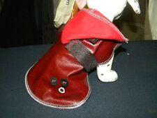 manteau chien 20cm simili cuir rouge creation toutou