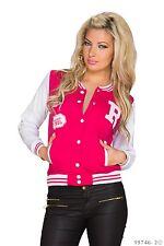 Women's Chic Elegant High Quality Sweat Fleece Jacket UK Size 10-12 - Pink