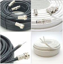 Twin Satellite Dish Coax Cable Digital Box Double 2 Wire Lead For Sky+ HD Q