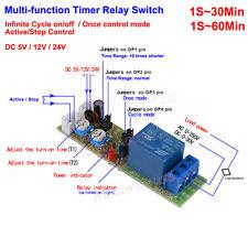 Adjustable Infinite Cycle Loop Delay Time Timer Relay Switch 5v 12v 24v Module