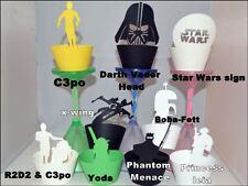 Tema De Star Wars Cupcake Wrappers x12 única manera de exhibir Cupcakes